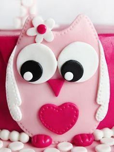 Owl fondant design