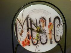 Recycled CD Clock.