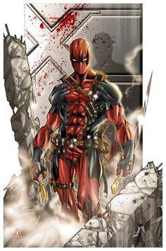#Deadpool #Fan #Art. (Deadpool) By: Marco Chechetto. (THE * 5 * STÅR * ÅWARD * OF: * AW YEAH, IT'S MAJOR ÅWESOMENESS!!!™) [THANK U 4 PINNING!!!<·><]<©>ÅÅÅ+(OB4E)
