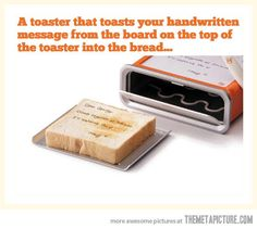 Toaster with handwritten messages…
