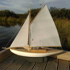 My scratch built rc pond yacht.