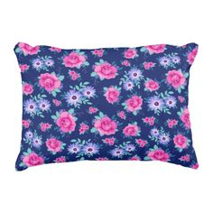 Rest your head on one of Zazzle's Floral decorative & custom throw pillows. Floral Throws, Floral Throw Pillows, Accent Pillows, Decorative Throw Pillows, Purple Roses, Pink Purple, Navy Blue Background, Mint Green, Elegant