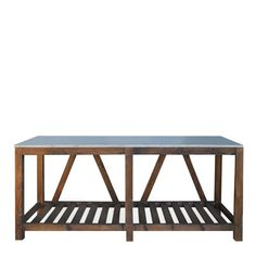 James Stone Console Urban Home Salvaged Barn Wood W Granite Slab Top Sofa Side Table