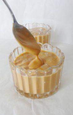 Crème dessert au caramel façon Danette lait 2 jaunes d oeufs maïzena crème Plus