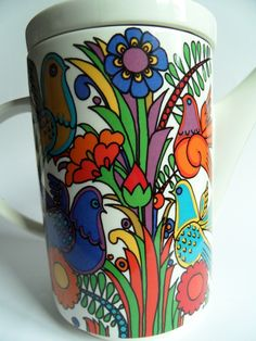 Acapulco, Villeroy & Boch ~ Lost and Found coffee pot detail