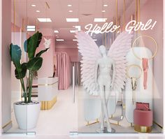 Hello Girl Store on Behance Source by boutique interior