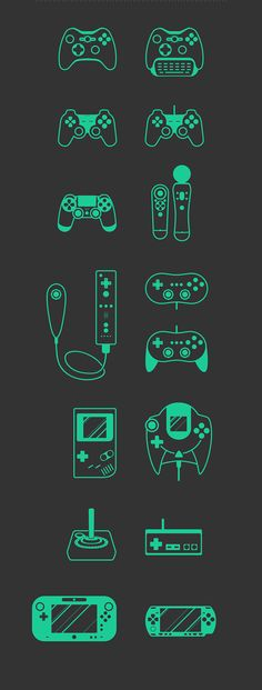 Free Game Set by Radoslav Krumov, via Behance#Minimalist #Illustration #icon