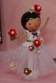 Degas Inspired Ballerina Clothespin Doll | Flickr - Photo Sharing!