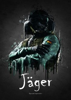 """Beautiful """"Operator Jäger from Rainbow Si."""" metal poster created by TraXim Design. Our Displate metal prints will make your walls awesome. Rainbow 6 Seige, Tom Clancy's Rainbow Six, Rainbow Art, Rainbow Meme, Rainbow Six Siege Poster, Rainbow Six Siege Memes, Siege Operators, R6 Wallpaper, Gaming Posters"""