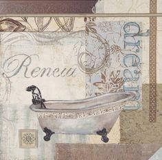 Sandra Smith dream and renew bath print