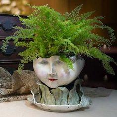 Victorian Lovelies Sculpted Indoor Head Planter