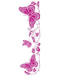 template de mariposa