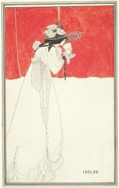 Aubrey Beardsley, Isolde, 1895, Harvard Art Museums/Fogg Museum.