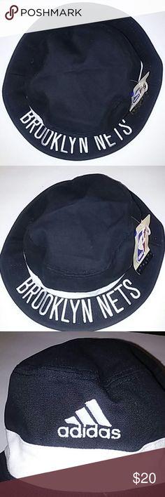 480cd72aa2125 NWT NBA Adidas Brooklyn Nets Black Bucket Hat S M NWT