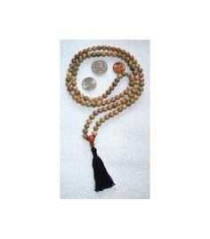 108 Unakite Handmade Mala Beads Necklace Blessed Energized | eBay
