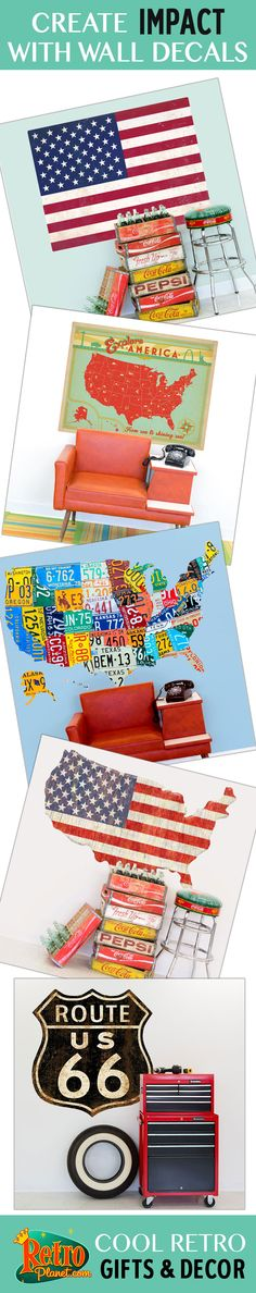 From New York City to Brazil, these destination wall decals are perfect for the home and office. Available in sizes up to 48 inches, they're made in the USA and feature a low-tac adhesive which makes them easy to remove.