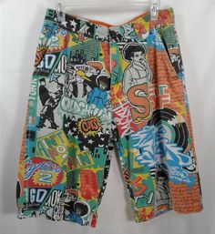 Parish Health Wealth Wisdom Funky Hip Hop Skateboard Shorts 32 #Parish #BoardSurf