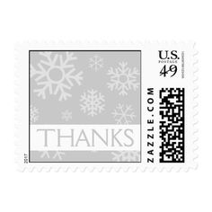 Thanks Snowflakes Christmas Stamps (Silver)