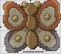 schema punto croce farfalla thun