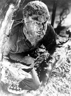 """Lon Chaney Jr. in """"The Wolf Man"""" (1941)"""