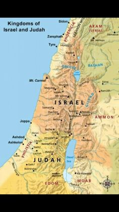 Northern and Southern kingdoms, Israel and Judah.