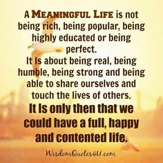 Meaningful Life ...