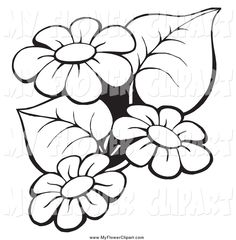 171 best clip art images on pinterest vectors free flower clipart flower clipart black and white free mightylinksfo