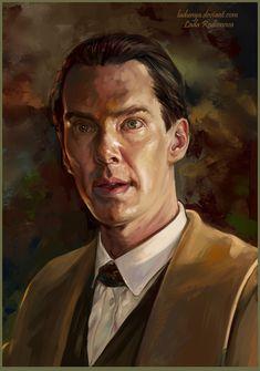 """ladunya: """"Sherlock from Sherlock's dream by ladunya """" Sherlock Holmes Benedict Cumberbatch, Johnlock, Marvel, Fan Art, Actors, Drawings, Fictional Characters, Sketches, Drawing"""