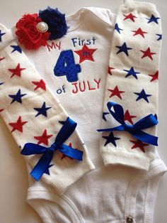 Baby Girl 4th of July outfit 4th of July leg by AboutASprout, $43.00