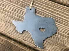Austin Texas State Metal Ornament Home Town Pride Raw Steel Christmas Tree Decoration Modern Farmhou Quilted Ornaments, Bird Ornaments, How To Make Christmas Tree, How To Make Ornaments, Christmas Tree Decorations, Christmas Ornaments, Holiday Decor, Rustic Christmas, Metal Christmas Tree