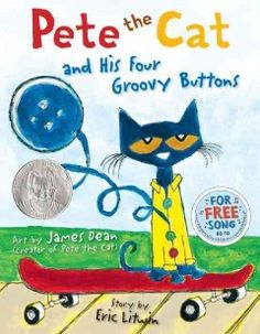 Pete the cat and his four groovy buttons Pete The Cat Buttons, Preschool Programs, Preschool Books, Book Activities, Pete The Cats, Cat Costumes, Stories For Kids, Math Games For Kids, Cat Activity