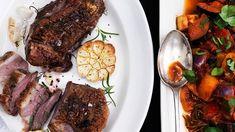 Langtidsstegt Lammeculotte → 180 min | Se Opskriften Her | POPULÆR! Ratatouille, Steak, Food, Meals, Yemek, Steaks, Eten, Beef