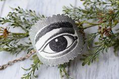 All Seeing Eye Image Cuff Bracelet  Tattoo by LivyLynnVintique