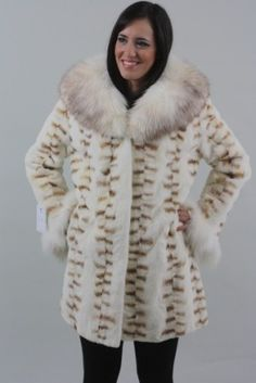 Brown Sheared Mink Fur rear paws with Fox Shearing, Mink Fur, Fur Fashion, Fur Coat, Brown, Jackets, Down Jackets, Brown Colors, Fur Coats