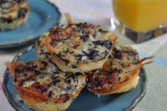 mini hashbrown crust quiches