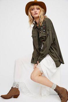 Drapey Military Shirt Jacket##freepeople #military