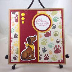 Pawsome Birthday | Dog birthday card | Fetching Friendship stamp set by Newton's Nook Designs