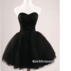 Girlfriend Prom Dress · Sweetheart black tulle short prom dress / bridesmaid dress · Girls Prom Dresses on Storenvy
