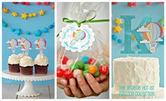 The Vintage Hot Air Balloon Collection - Custom Cupcake Toppers from Mary Had a Little Party. $6.90, via Etsy.