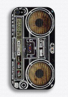 Vintage radio phone case by Mad Moo Creations on Folksy