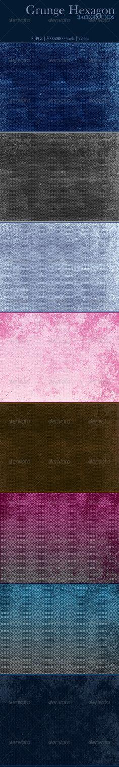 Grunge Hexagon Backgrounds