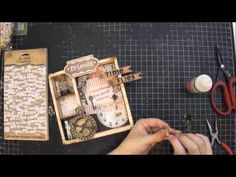 Vintage Altered Tray Tutorial - YouTube