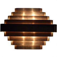 Jules Wabbes Brass Sconce | From a unique collection of antique and modern wall lights and sconces at http://www.1stdibs.com/furniture/lighting/sconces-wall-lights/