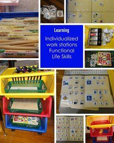 The classroom, how one special ed teacher sets up her class for kids with autism. Repinned by playwithjoy.com. For more autism pins visit pinterest.com/playwithjoy