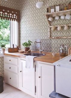 countertop and window panelling.perfect with a bit more color