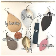 Perfection Packs Leather Earrings Assorted Colors /& Various Sizes