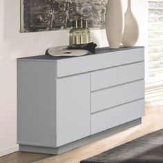 Modern White Mission Sideboard, Ontana-Wht