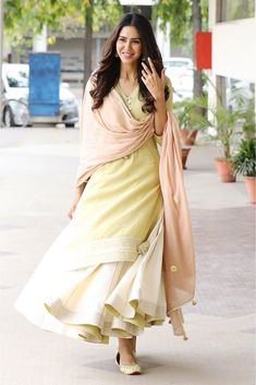 Youdesign cotton lehenga suit in pastel green colour size upto Pakistani Fashion Casual, Indian Fashion Dresses, Dress Indian Style, Indian Skirt, Indian Fashion Trends, Punjabi Fashion, Pakistani Suits, Punjabi Suits, Women's Fashion
