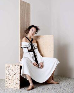 Xiao Wen Ju by Ben Toms for Vogue China April 2016 - Proenza Schouler