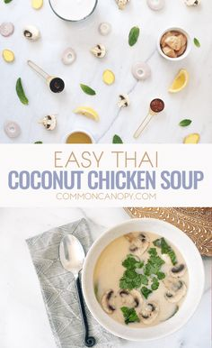 I love this soup so much! It's a spin off of the familiar Tom Kha Gai soup, it's just as yummy but even simpler! It's a staple in my house now!